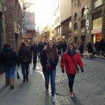 The shopping streets of historic central Florence.