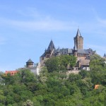 Wernigerode Castle above the city